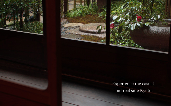 Experience the casual and real side Kyoto.